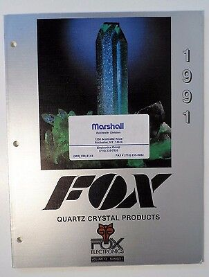 1991 Fox Quartz Crystal Products Catalog w/Data and Specifications