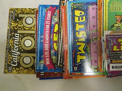$452 California Lottery Scratcher Tickets (No 2nd chance) Novelty Item 2019