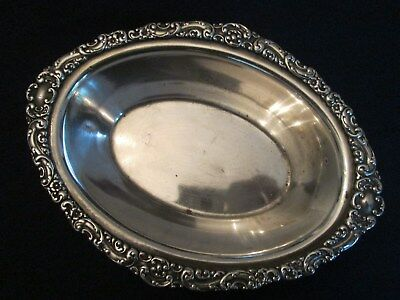 OBLONG HOLLOWARE BOWL! Vintage REED & BARTON silverplate: HOTEL MANHATTAN lovely