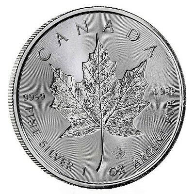 1 oz. 1 Unze Silber 999.9 *5 CAD Maple Leaf - Incuse* 2018 in Münzkapsel