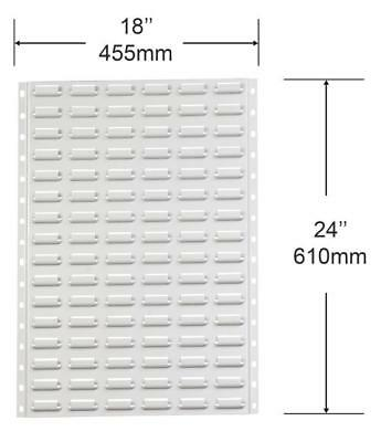 BL2 Pack of 2 VISIPLAS Steel Louvre Panels 610mm High x 455mm Wide