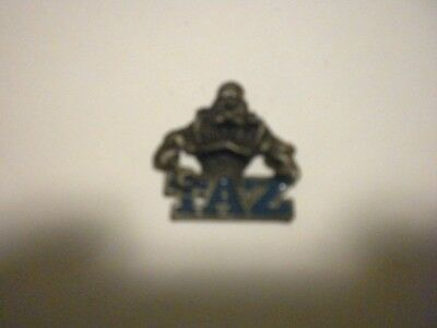 Taz Pewter / Metal Pendant By Warner Bros. 1 1/2 Inches Tall Great Condition