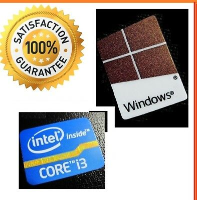 DESKTOP Intel inside Core i3 FREE WINDOWS 10 computer sticker PC Genuine 7 8