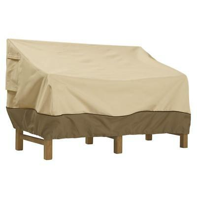 Beige Polyester Veranda XL Weather Resistant Patio Sofa/Loveseat Bench Cover