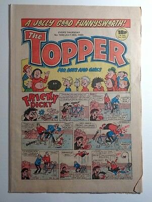 The Topper Comic No.1643 28th July 1984 D.C. Thomson Cartoon Humour