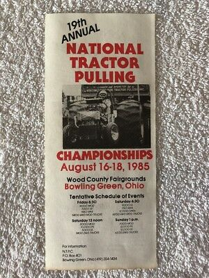 1985 National Tractor Pulling Championships Tractor Pull Flyer Firecracker 300