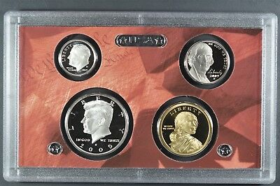 2009 S U.S. Mint 18 coin 90% Silver Proof Set +box & COA / original packaging