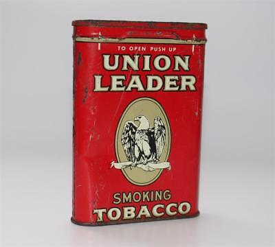 alte Blechdose, Union Leader Smoking Tobacco Tabak Zigaretten US USA Adler #C251