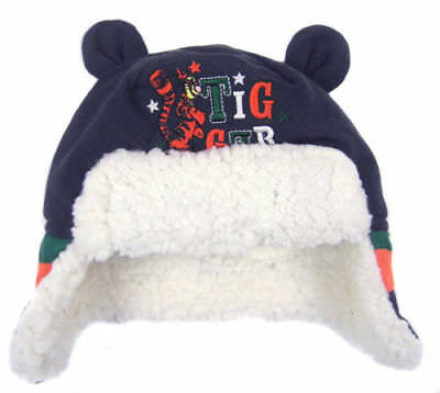 Boy Girl Baby Disney Tigger Winter Trapper Hat Fleece Lined Age 0-18 Months