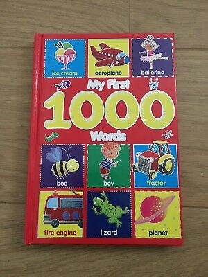 My First 1000 Words & Pictures Children's Hardback Book For Baby & Toddler - New