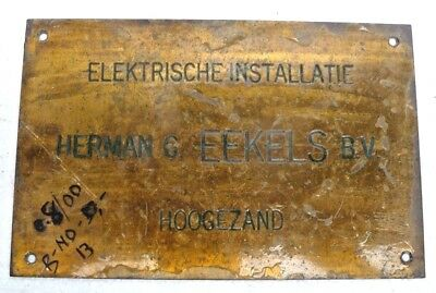 Marine Vintage Ship Nautical Brass Name Plate - Signs - Herman & Eekels Bv - B13
