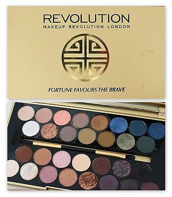 MAKEUP REVOLUTION 'Fortune Favours the Brave' Eyeshadow Palette Nude Neutral NEW