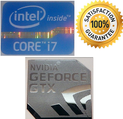 NVIDIA GEFORCE GTX + Intel Inside CORE i7 WINDOWS PC 7 sticker 8 XP 10 Vista UK