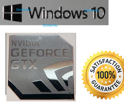 NVIDIA GEFORCE GTX + FREE WINDOWS PC 10 sticker 8 XP Vista UK Computer 7 Genuine
