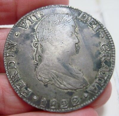 1822 JM  (MEXICO) 8 REALES (GUANAJUATO) WAR of INDEPENDENCE --VERY RARE--