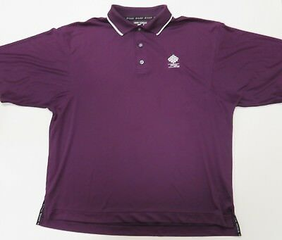 FJ Footjoy Prodry Superlite Polo Shirt Purple XL Mens Short Sleeve