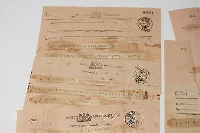 Lot 11x Telegram Telegramm Rangoon Rangun, Myanmar,  1919-1926   #A706