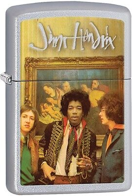 Zippo 11574 Jimi Hendrix Satin Chrome Lighter 2.25 x 1.4375