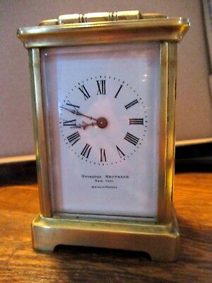 Clock French Carriage Clock 1890-1900 Time Only Advertising 8-day PARTS & REPAIR