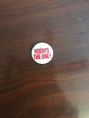 "US Presidential Campaign Button President Nixon ""Nixon's the One"" Pin-back"