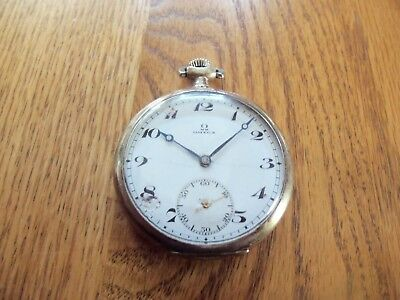 Antique Omega 16 Size Open Face Pocket Watch