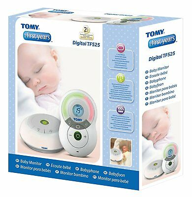 Tomy TF525 Digital Audio Baby Sleeping Alarm Safety Monitor Lullaby Temperature