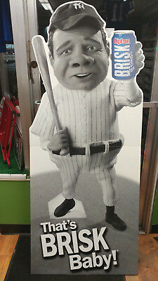 NY Yankees Babe Ruth Brisk Iced Tea Standee Cardboard Life Size Cutout Display