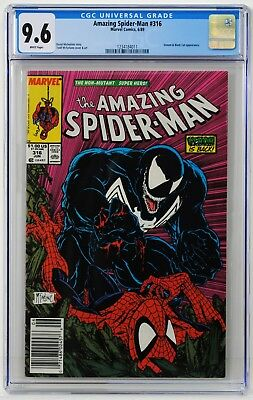 Amazing Spider-man #316 CGC 9.6 White Pages! 1st Venom Cover! Newsstand Edition!