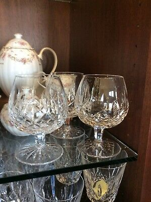 New Waterford Lismore BRANDY SNIFTER glasses