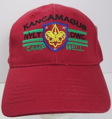 Kancamagus Camp Bell Boy Scouts Hat Cap NYLT DWC USA Embroidery New