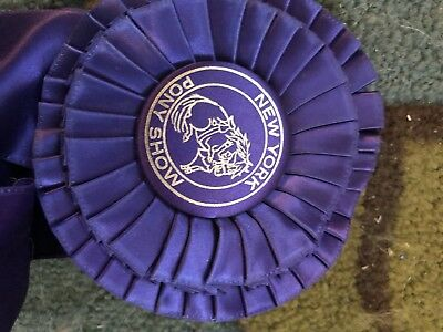 New York horse and pony show ribbon medal