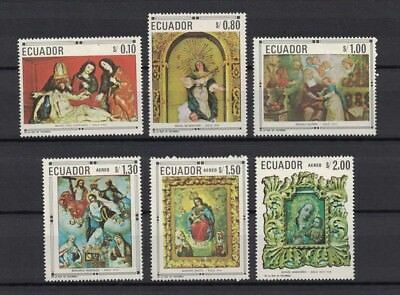 Ecuador 1968 Minr 1403-08 ** / mnh paintings Gemälde art Skulpturen