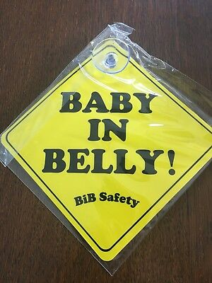 Baby In Belly Car Sign -suction - pregnancy - novelty gift