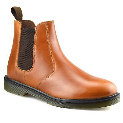 cfcfe7ca869 Mens New Leather Chelsea Dealer Work Formal Ankle Biker Airsole Boots Shoes  Size