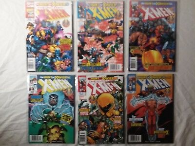 X-Men The Hunt for Xavier (6 issue lot)(1998) Uncanny X-Men 362-364, X-Men 82-84