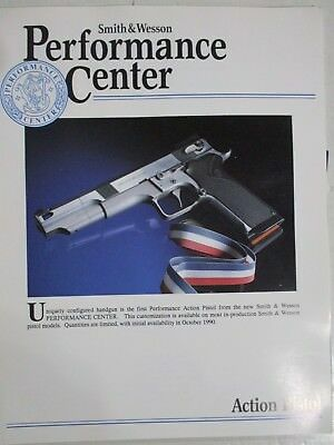 12 Vintage Factory Smith & Wesson Dealer Flyers, New Products, Performance Ctr