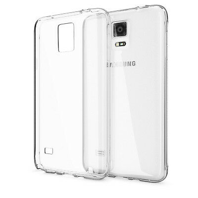 Samsung Galaxy Note 4 Transparent Clear TPU Silicone Gel Soft Fitted Case Cover
