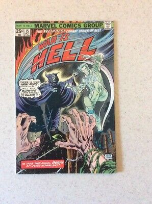War Is Hell # 15 VF- Last Issue. Hard To Find. Herb Trimpe Cover
