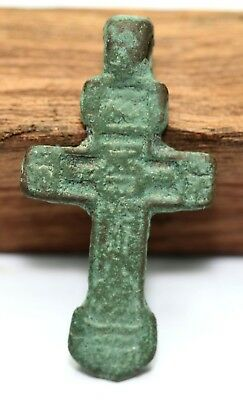 Ancient-bronze-cross-of-the-16th-century-in-northern-Europe-pendant-AMULET