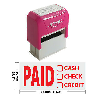 PAID CASH CHECK CREDIT Self Inking Rubber Stamp - JYP 4911R-01  RED INK
