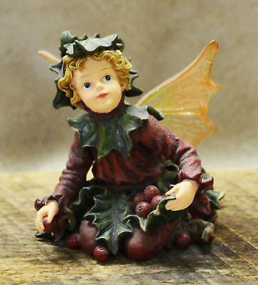 "Boyds Wee Folkstone Faerie ""Holly Faerieberry..Holiday Gathering"" #36014 3E RARE"