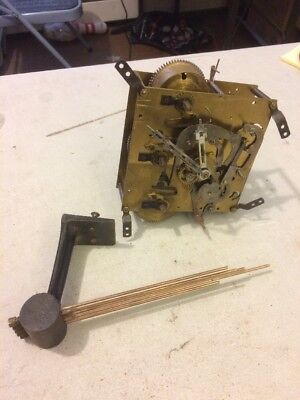 Antique German Westminster Chimes Clock Movement With Bar& Hands Likely Junghans
