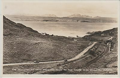 Skye - The Cullins- The Road To The Isles From Mallaig - Real Photo Postcard