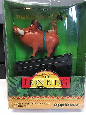 The Lion King Pumbaa And Timon With Stamper Feet And Ink Pad New