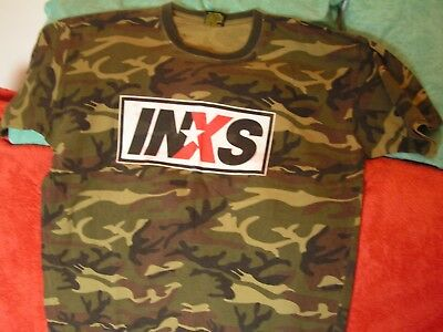 Inxs Concert Tour T Shirt June 2007 Camouflage Pattern Size L By Stars & Stripes