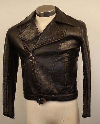 SMALL,ORIGINAL VINTAGE  1960s BROWN MENS  VINYLE JACKET. AS IS. MADE IN ITALY.