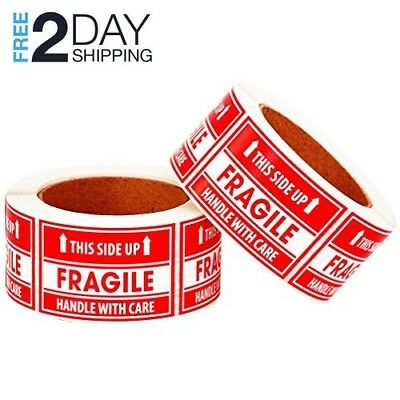 """1000 Large 3x5"""" Handle with Care Fragile on cardboard or plastic Labels Stickers"""