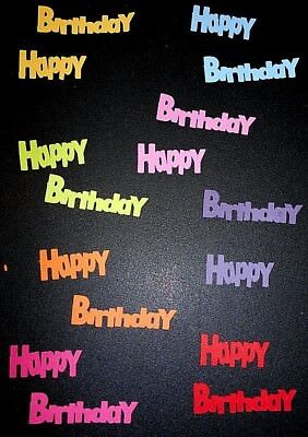 Textured  Cardstock Die-cuts *HAPPY BIRTHDAY*  Scrapbooking/Cardmaking