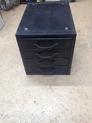 Vintage Metal 4 Drawer Small Parts Cabinet Organizer Industrial