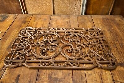 Ornate Cast Iron Antique Victorian Style Architecture Doormat - Garden Grate